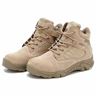 Men Desert Delta Force Military Boots Tactical Airsoft Caccia Outdoor Army Tan