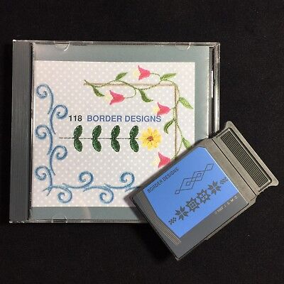 Embroidery Designs Card #118 Borders For Janome 5000 5700 9000 Elna CE20 8006
