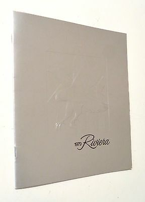 1979 BUICK RIVIERA Promotional Booklet - Color Photos - Car Features - GM