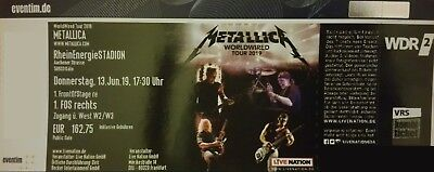 Tickets METALLICA KÖLN STEHPLÄTZE 1. FRONT OF STAGE 13.06.19 FAN-TICKETS