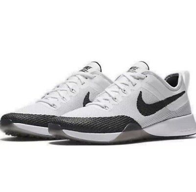 9dc83caf122 Women s Nike AIR Zoom TR DYNAMIC TRAINING SHOES WHITE BLACK 849803 100 Size  11