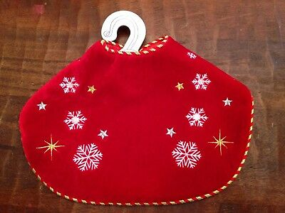 Build a Bear Merry Mission Red Christmas Holiday Reindeer Cape Velour Snowflake