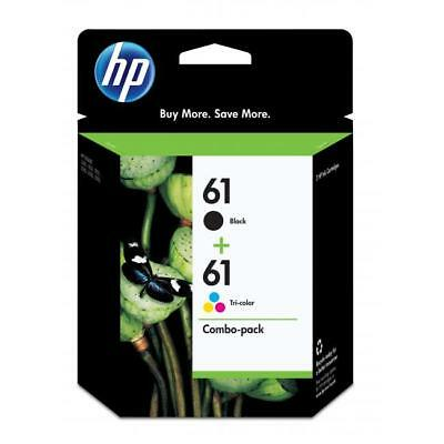 HP Genuine 61 Black + Color 2-Pack of Ink In Bags OFFICEJET 2620 4630 4631 4632