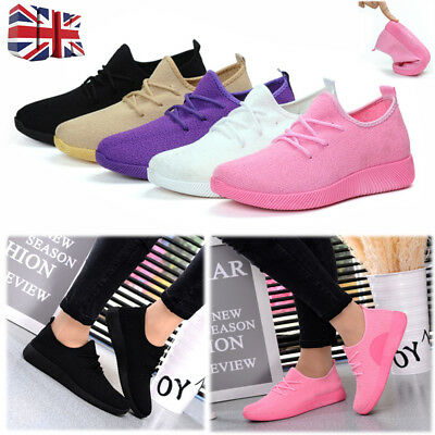 Women Ladies Casual Trainers Gym Fitness Running Sports Outdoor Sneakers Shoes
