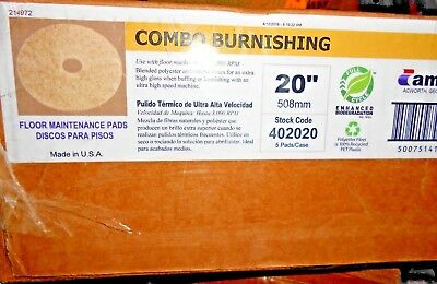 "Case of 5 Americo Combo Burnishing Ultra High Speed Floor Pad  20"" (loc-20-top)"