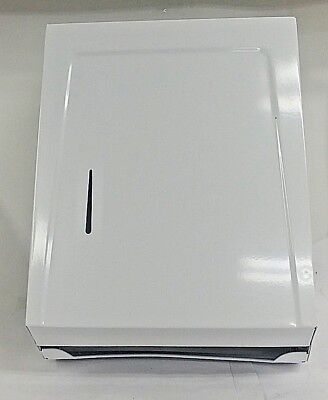Continental Combo Towel Cabinet 990W White Metal Fold Towel Dispenser