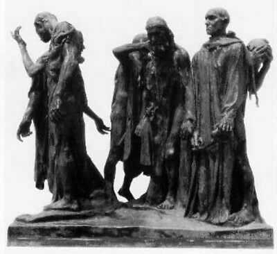 The Burghers of Calais Lost Wax Bronze Statue Sculpture by Auguste Rodin