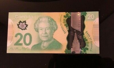 CRISP UNC Canada $20 2012 commemorative Queen's historic reign polymer Bank Note