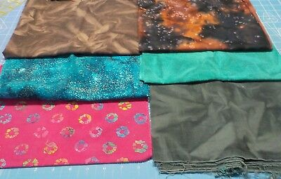 6 pieces cotton fabric batik type 1/2 yard each assorted colors and designs