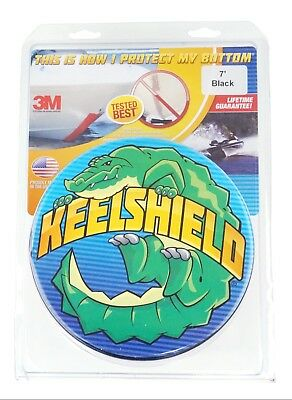 New KeelShield Gator Guards 7ft Boat Hull Protector 3M Protect Your Bottom Black