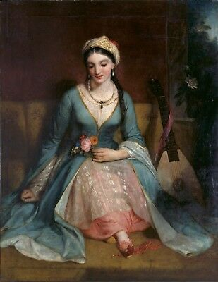 """Henry W. Pickersgill  """"A Young Greek Woman""""  Open Edition Giclee Pigment Print"""