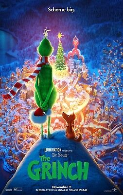 The Grinch 2018 - 11x17 Promo Movie POSTER