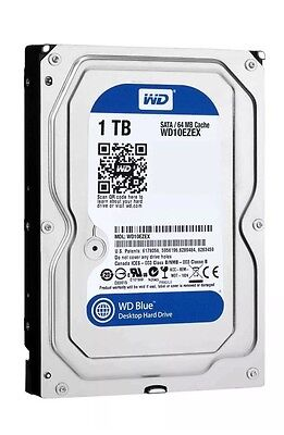 "New Western Digital WD Blue 1TB 3.5""SATA Internal Desktop Hard Drive HDD 7200RPM"