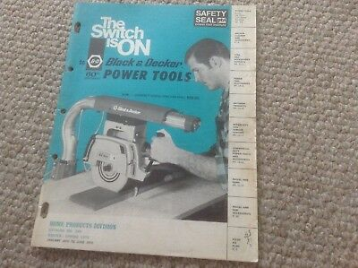 Vintage Black and Decker 1970's Power Tools Catalog