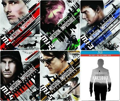 Mission: Impossible Collection (STEELBOOK) (Blu-ray) (Region Free) (NEW)