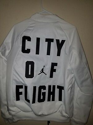a662a642298430 NIKE JORDAN WINGS City Of Flight MA-1 White Jacket  911313-100 ...