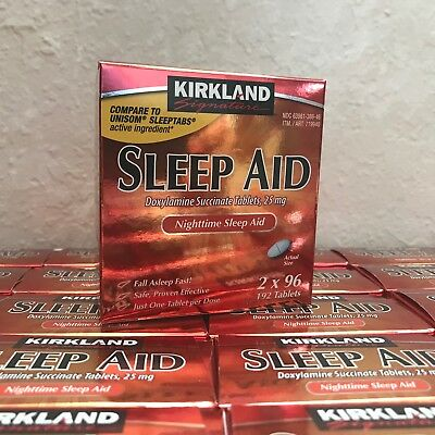 Kirkland Signature Sleep Aid Doxylamine Succinate 25 Mg - 192 Tablets