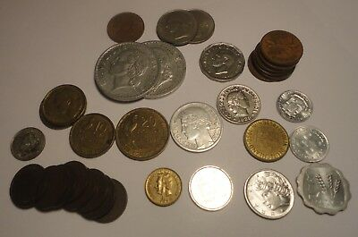 lot of 33 older foreign  coins