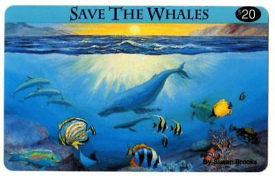 10- Save The Whales $20.00 Phone Cards. Phone Line USA. Expired Cards