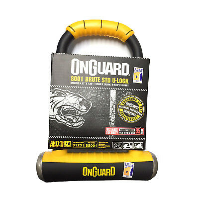 Onguard Brute Standard 8001 Anti-Theft Motorcycle Scooter Lock Gold Sold Secure