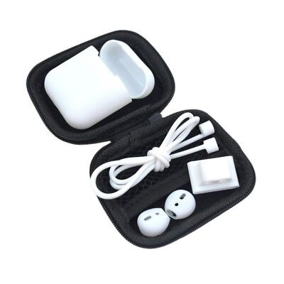 For Apple AirPods Accessories Zip Case Gel Silicone Bag Anti Lost Strap Ear Box
