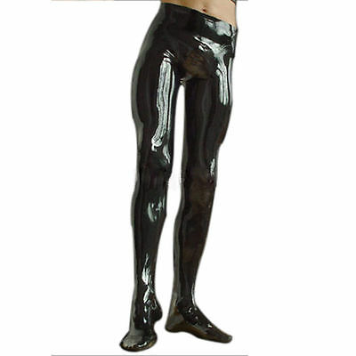 Latex Rubber Men Pants With Socks Gummi 0.4mm Leggings Customize Plus Size