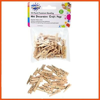 1200 x WOODEN MINI CRAFT PEGS 3cm | Photograph Line Craft Weddings Baby Showers