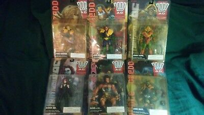 New in Box 2000 AD Judge Dredd Action Figures- Complete Set