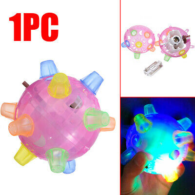 Jumping Activation Ball Pet Cat Dog Chew Electric Toys Flashing Dancing Ball Fun
