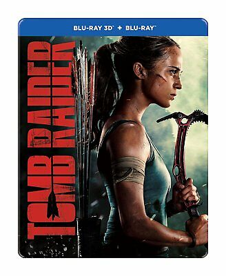 Tomb Raider (STEELBOOK) (Blu-ray 3D + Blu-ray) (Region Free) (2018) (NEW)