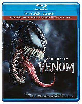 Venom (2018) (Blu-ray 3D + Blu-ray) (Region Free) (Three Disc) (NEW)
