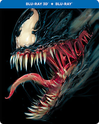 Venom (2018) (STEELBOOK) (Blu-ray 3D + Blu-ray) (Region Free) (Three Disc)(NEW)