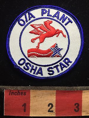 MOBIL (OIL & GAS COMPANY) O/A PLANT OSHA STAR PATCH - Pegasus Flying Horse 76Y3
