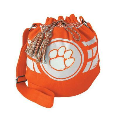 Clemson Tigers Bag Ripple Drawstring Bucket Style