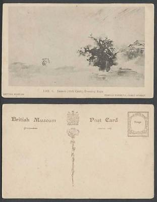 Japan Old Postcard Sesson Shukei 1504–1589, Evening Rain 16th Cent. Satake Heizo