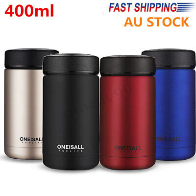 400ml Stainless Steel Vacuum Flask Water Bottle Thermos Coffee Mug Cup Xmas Gift