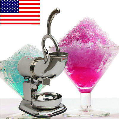 NEW Ice Shaver Machine Sno Snow Cone Maker Shaved Icee Electric Crusher 110~220V