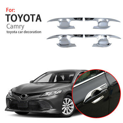 ABS Chrome Car Side Door Handle Cover Trim 4PCS For Toyota Camry XV70 2018 2019