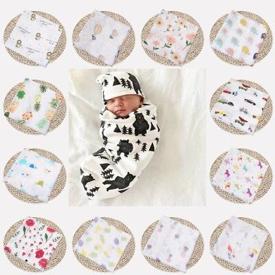 "47""*47"" Baby Infant Floral Swaddle Blanket Cotton Sleeping Swaddle Muslin Wrap"