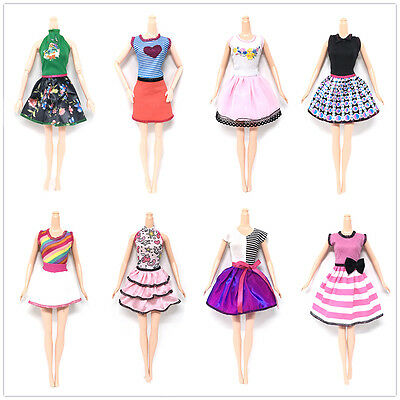 1PC Lovely Doll Dress For Barbies Dolls Toy Party Handmade Summer Clothes BIN