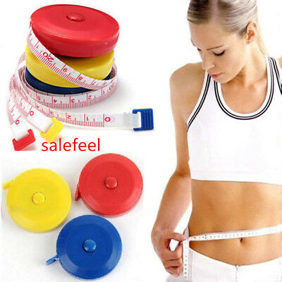 1x Random Color Retractable Tape Measure Sewing Tailor Dieting Tapeline Ruler