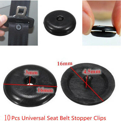 10pcs Car Seat Belt Stop Button Safety Stopper Spacing Limit Buckle Retainer