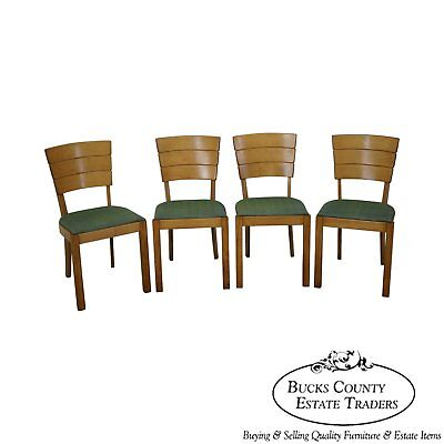 Heywood Wakefield Vintage Set of 4 Maple Dining Chairs