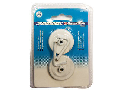 Silverline Magnetic Hooks (2), Ideal for Retail, Office or Home