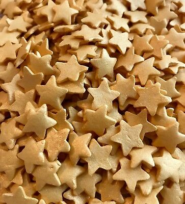 Large Gold Star Sprinkles with Shimmer, Edible Cake Topper