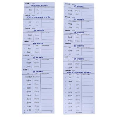 Common Words spelling Dry wipe Cards by Dyslexia-Consultants EARLY YEARS PHONICS