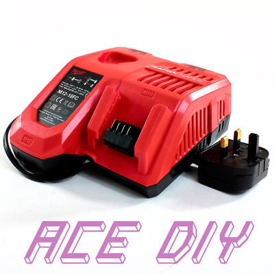 Milwaukee Rapid Battery Charger M12-18FC Twin Port 240 Volt Drill Sander Torch