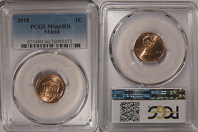 2018 P Lincoln SHIELD Cent 1c PCGS MS66RD