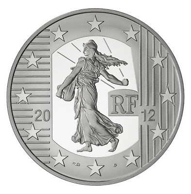 10 Euro argent France La Semeuse 2012 BE