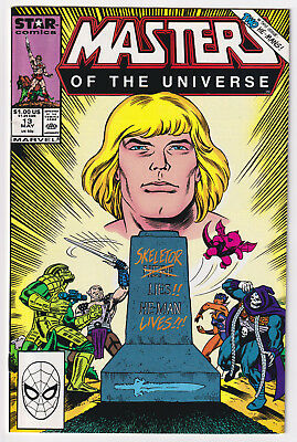 MASTERS OF THE UNIVERSE #13 | He-Man | Final Issue | Star Comics | 1988 | VF+